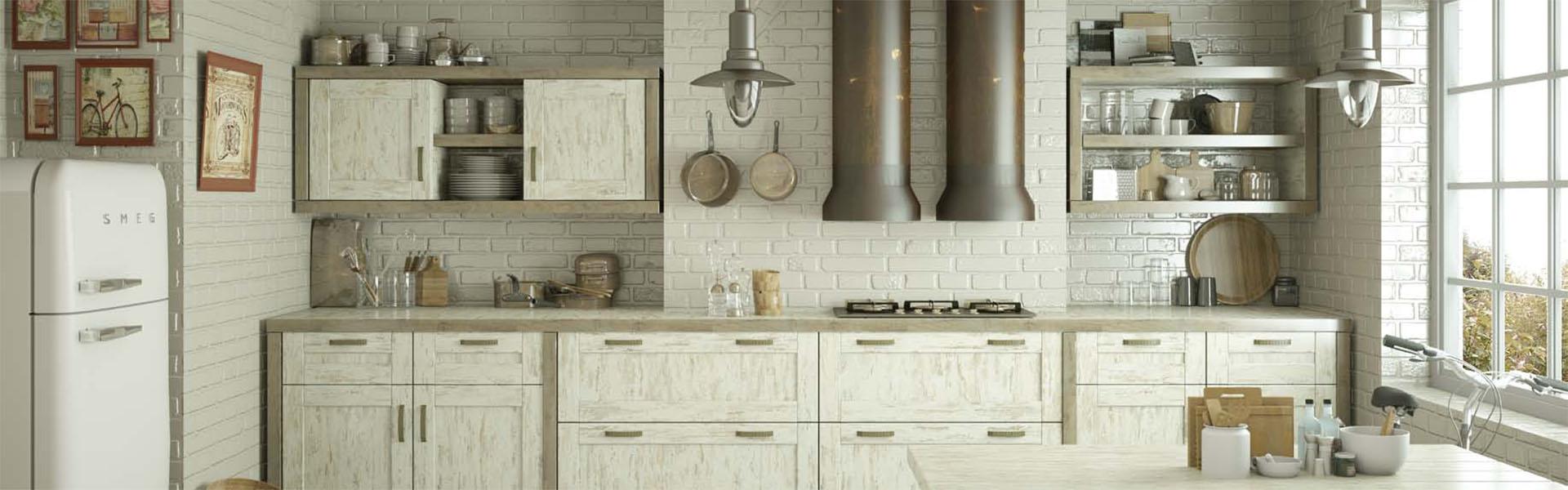 Cocina muebles diseño madera vintage moderno Trecoam