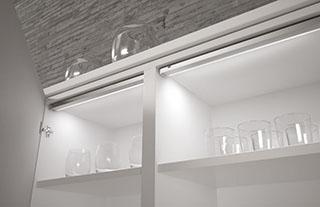 Iluminacion led cocinas luz interior vasos Trecoam