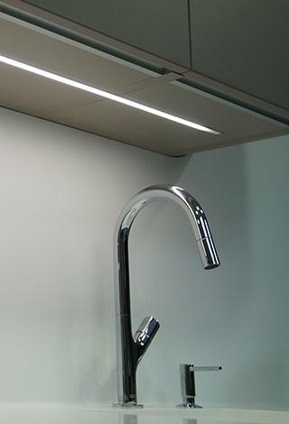 Iluminacion led cocinas luz interior encimera Trecoam